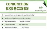 Conjunction Exercises (solved)