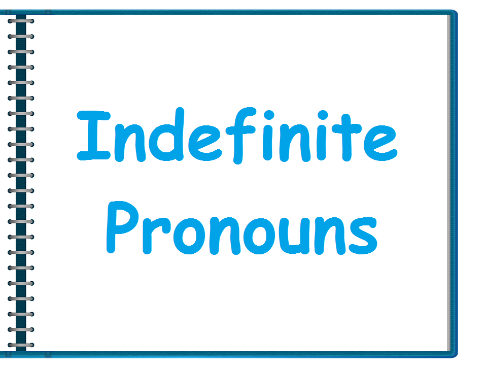 Indefinite pronouns (some, any)