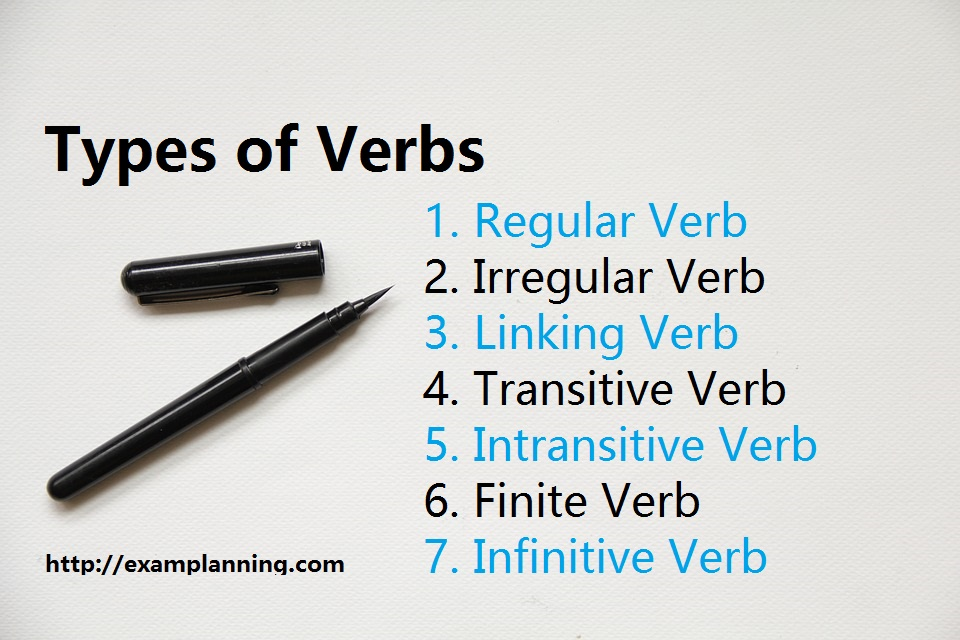 types of verbs with examples